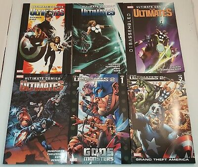 Lot of 6 Marvel Comics Softcovers ~ULTIMATE COMICS~ Ultimates ~Ultimates 2~ NEW