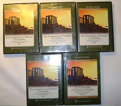 The Foundations of Western Civilization The Great Courses 8 DVD's and Guide Book