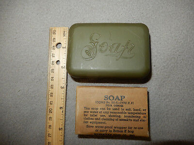 Original Wwii Us Army 4 Ounce Soap Bar With Container