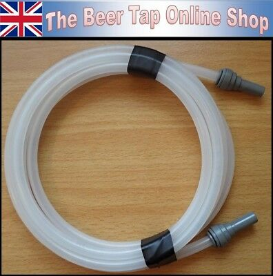 Flexible Beer Line 5/16 (8mm) OD 4mm ID + JG 3/8 Stem for Beer Tap & Keg Coupler