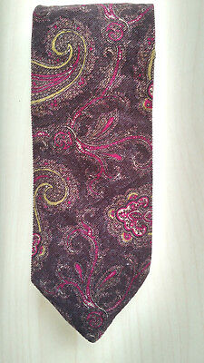 THE RACK LONDON Mens retro vintage tie made in Italy