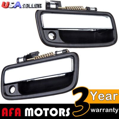 Chrome Outside Front Left Right Door Handle Exterior For 95-04 Toyota Tacoma Set