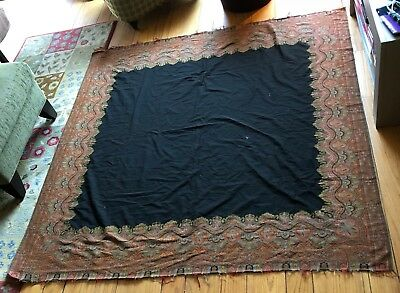 Antique Early 1900's Kashmir Paisley Shawl/Tapestry by Helfrich