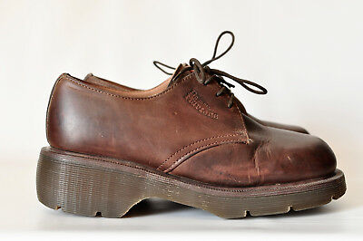 Dr Martens The Original Brown Leather Oxfords UK 5 US Womens 7 Shoes Doc England