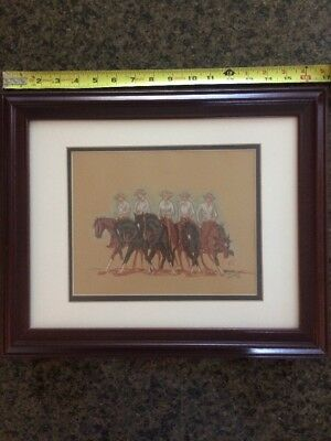 Cowboy, Horse Colored Picture (Signed)