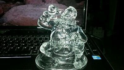 Coca Cola 24% Lead Crystal Christmas Santa Figurine - No Box