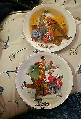 KNOWLES Collector Plate lot 2 THE CSATARI GRANDPARENT PLATE 1980 and 1981