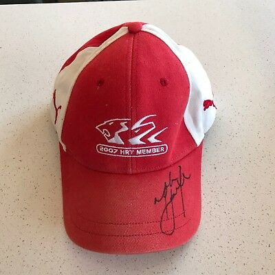 Holden Racing Team HRT 2007 member Cap Hat Signed Mark Skaife autographed