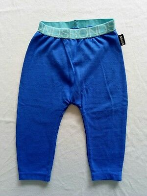 Bonds Leggings Unisex Boy Girl Size 00 Blue with Aqua Waistband