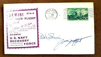 Gemini 6 Crew Autographed Recovery Cover - Schirra/stafford