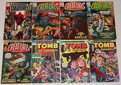 #8 Bronze Age Marvel Horror Lot Tomb Chamber Darkness #2 Creatures Monsters 5.0