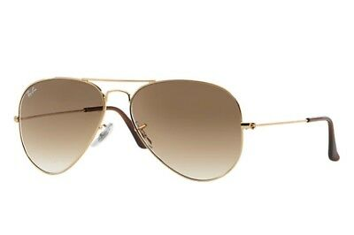 Ray Ban Aviator Gradient  Light Brown Gradient RB3025 001/51 58mm
