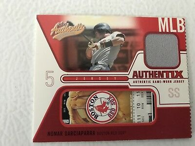 2004 Fleer Authentix Game Used Jersey #JA-NG Nomar Garciaparra Boston Red Sox