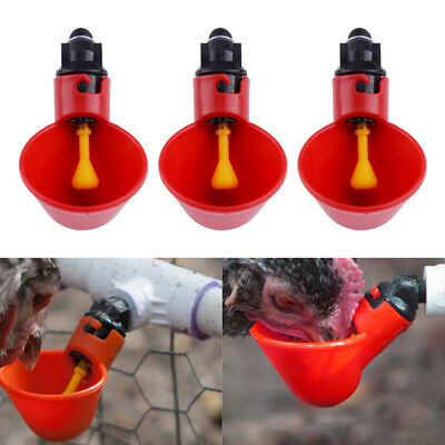5/10pcs Ball Valve Automatic Waterer Drinking Cup Bowl for Pigeon Bird Poultry