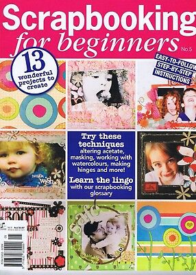 SCRAPBOOKING for BEGINNERS Magazine NO 5  2 FREE PAPER gifts Sets