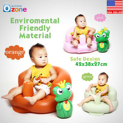 Inflatable Baby Sofa Toddlers Sit Me Up Stool Training Seat Dining Bath Chair