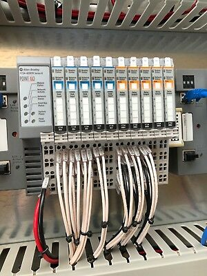 Allen Bradley input/output 1734-AENTR Series-B with Sink input 1734 IB4 and rela