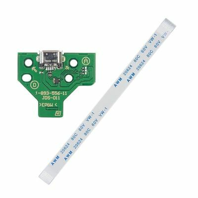 USB Charging Port Socket Board JDS-011 for SONY PS4 Controller + 12 pin Cable EL