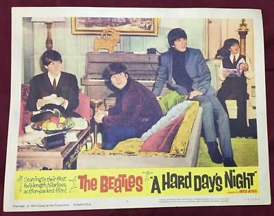 the four Beatles in their hotel room A Hard Day's Night 1964 #5 Lobby card 2207