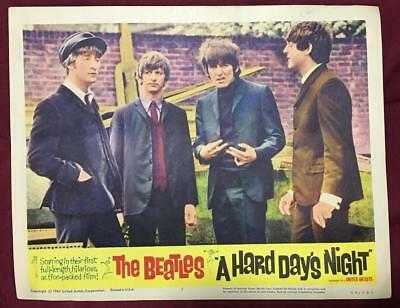 great close up of all four Beatles A Hard Day's Night 1964 # 7 Lobby card 2209