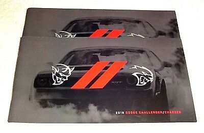 2 New 2018 Dodge Challenger & Charger Brochure From Case + Free Shipping