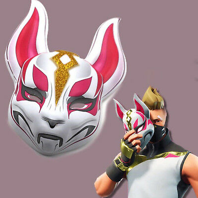Fortnite Fox Drift Halloween Cosplay Costume Props Latex Face Mask Party Unisex
