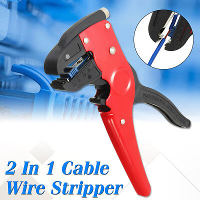 2 In 1  Electrician Cutter Automatic Cable Wire Stripper Tool Crimper