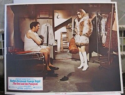 "1970 THE OWL & THE PUSSYCAT 11"" x 14"" Color Lobby Card with BARBRA STREISAND"