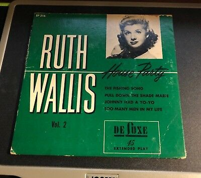 RUTH WALLIS House Party Volume 2 De Luxe EP #EP216 45 RPM 1950s Adult Comedy