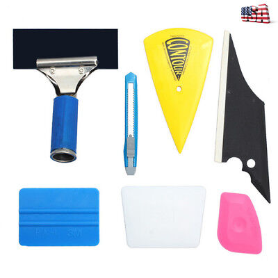 7X For Auto Cartint Film Car Window Tint Tools Kit Squeegee Scraper Film Set Kit