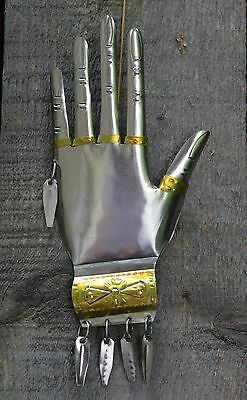 Mexican Tin Hand Milagro Miracle Traditional Ornament Oaxaca Folk Art Hand Made