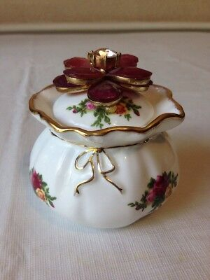 Vintage Royal Albert Old Country Roses Bone China Dorothy Jar Pot Bowl 1962