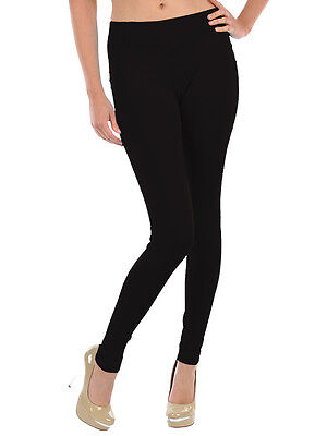 Womens Black Leggings Footless Sexy Skinny Pants Stretchy New One Size Hot Style