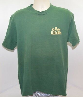 VTG 90s The Beverly Hillbillies Movie Promo Green T Shirt Mens L Made in USA