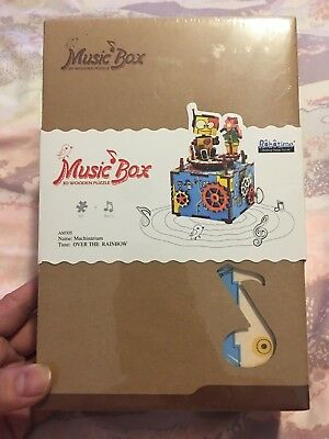 Robotime AM 305 Machinarium 3D Wooden Puzzle Music Box