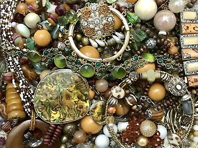 Large Vintage To Now Jewelry Lot Estate Find Rhinestones Untested #v24