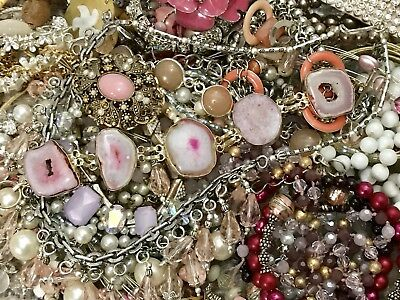 Large Vintage To Now Jewelry Lot Estate Find Rhinestones Untested #v19