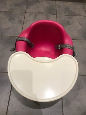 Pink Bumbo Seat With Food/play Tray