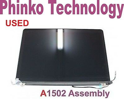 "Used Apple Macbook Pro 13"" Retina 2013-2014 A1425 A1502 Lcd Screen Assembly"