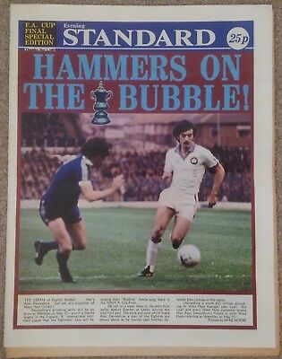 West Ham United v Arsenal 1980 FAC Evening Standard Special Edition