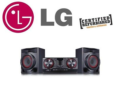 LG CJ44 Hi-Fi Mini Stereo Radio Bluetooth, CD, USB, EQ, Powerful Sound 480W