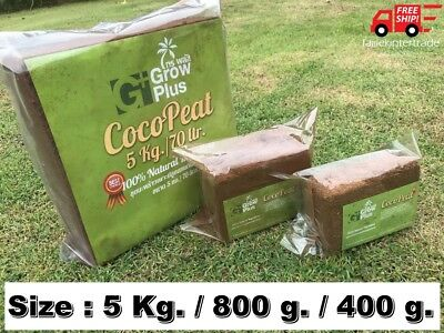 COIR COCO PEAT BLOCK Hydroponics Reusable Substrate Natural Growing Soil Plants
