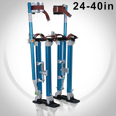 Drywall Stilts 24-40 Inch Aluminum Tool Stilt Blue For Painting Painter Taping