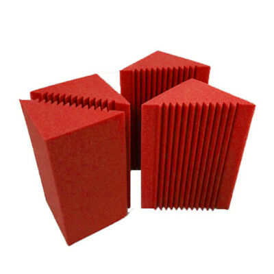 Foam Panel Small Bass Trap Corner Wall Soundproof For Studio Red&Black Acoustic