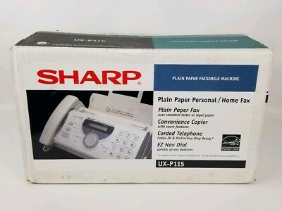 New Open Box Sharp UX-P115 Plain Paper Fax Machine Phone Copier Facsimile