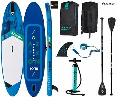 AZTRON MERCURY 10.10 SUP Stand up Paddle Board mit Speed Carbon Paddel und Leash