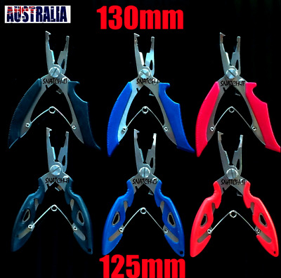 Fishing Pliers Braid Scissors Cutter Tackle Line Trace Split Ring Tool Lip Grip