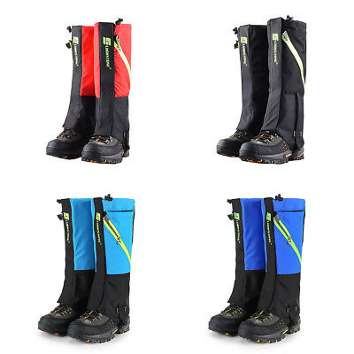 1 Pair Outdoor Sports Waterproof Hiking Climbing Snow Cover Shoe Boot Gaiters AD