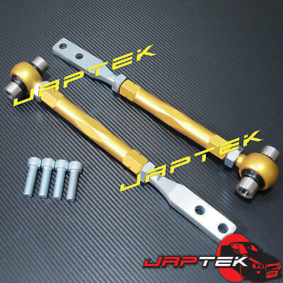 Pink MEGAN Forged FRONT PILLOW TENSION RODS SET For Nissan 95-98 240SX S14