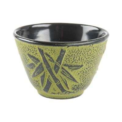 Benzer - Orient Express Bamboo Cast Iron Tea Cup 120ml Lime with Black Finish